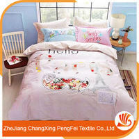Supply customizable size embroidered bed sheet set for home