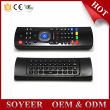 2.4GHz Fly Air Mouse with Microphone Mini Keyboard Qwerty Wireless Remote Controller VS MX3 6-Axis Gyroscope Gamepad