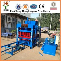 Building equipment machinery QT4-15B Fully Automatic Fly Ash Cement Brick Making Machine Price in india