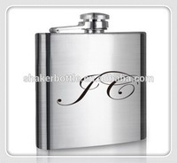 Hip flask manufacture Logo Customized Painting Stainless Steel Hip Flask