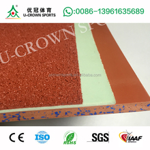ECO-friendly full PU rubber running track for Multi-purpose sports flooring