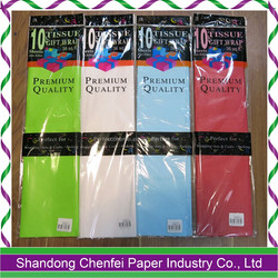 Promotion ! Tissue paper wrapping paper colorful wrap paper with tissue