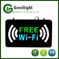 rectangle acrylic epoxy resin fonts commercial advertising led FREE WiFi neon sign