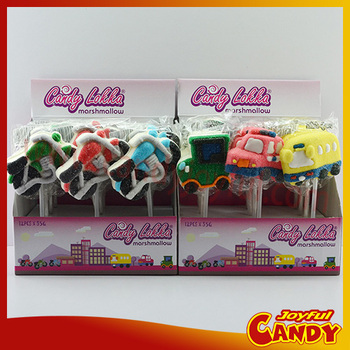 Car Marshmallow lollipops candy
