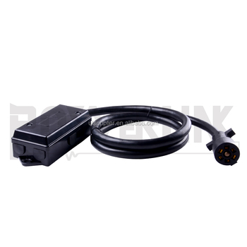 S20878 4FT 7-Way Plug Inline Trailer Cord with 7-Gang Junction Box