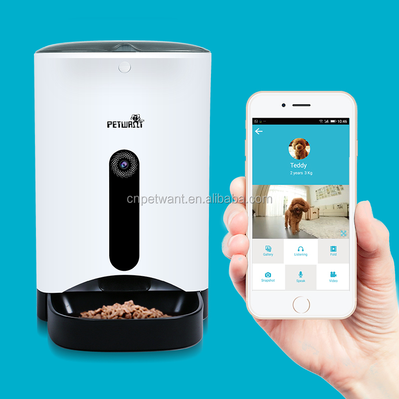 App Controlled Automatic Pet Feeder With Camera Smart Dog Feeder