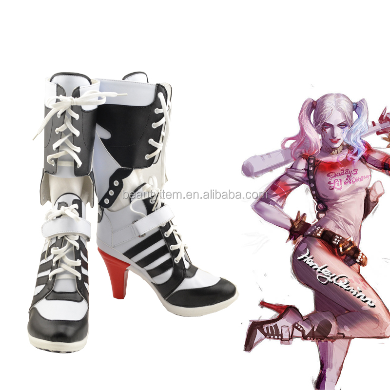 Custom made Arkham Harley Quinn costume cosplay shoes