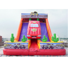 New style car themed commercial inflatable slide for kids made in China