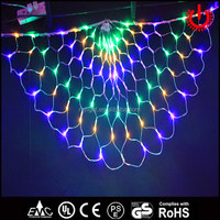 christmas decorative four color flashing peacock net lights