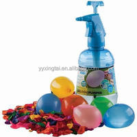 3-in-1 Plastic water balloon pumper aire pressure sprayer with 500pcs balloon