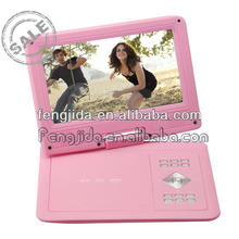 9.8inch outside use portable dvd player with digital tv turner