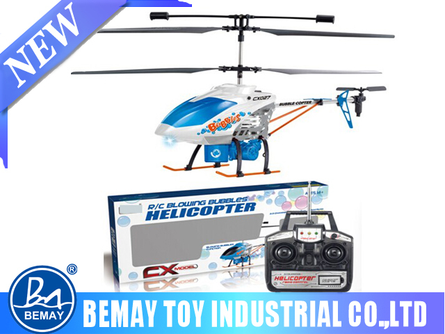 3.5 channel bubble blowing electric rc helicopter RTF