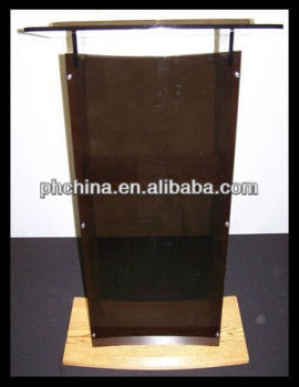 Rd-526 Hot Sell Glass Pulpit;church Pulpit Designs