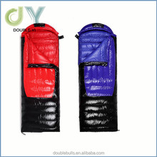 Made in china high quality blue colour goose down s winter sleeping bag fashing design envelope sleeping bag