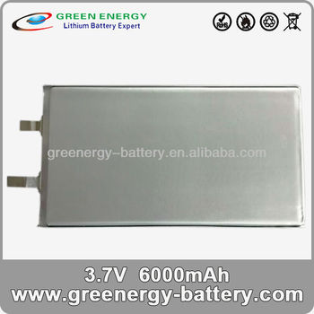 3.7v 6000mah li polymer battery pack