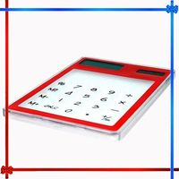 GIFT85K Mini Slim Credit Card Solar Power Pocket Calculator