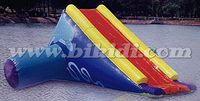 Giant inflatable water slide, water park airtight floating slide for sale D3080