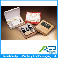 Luxury white matte lamination cosmetic gift set packaging box, Customized essential oil packaging gift box with lid