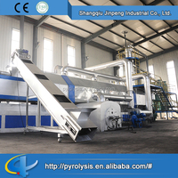 Used Tire Pyrolysis Plant for Sale Continuous Scrap Tyre Processing Pyrolysis Machinery