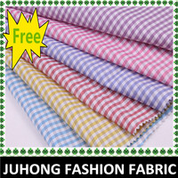 Free samples 100%polyester ladies check shirt fabrics