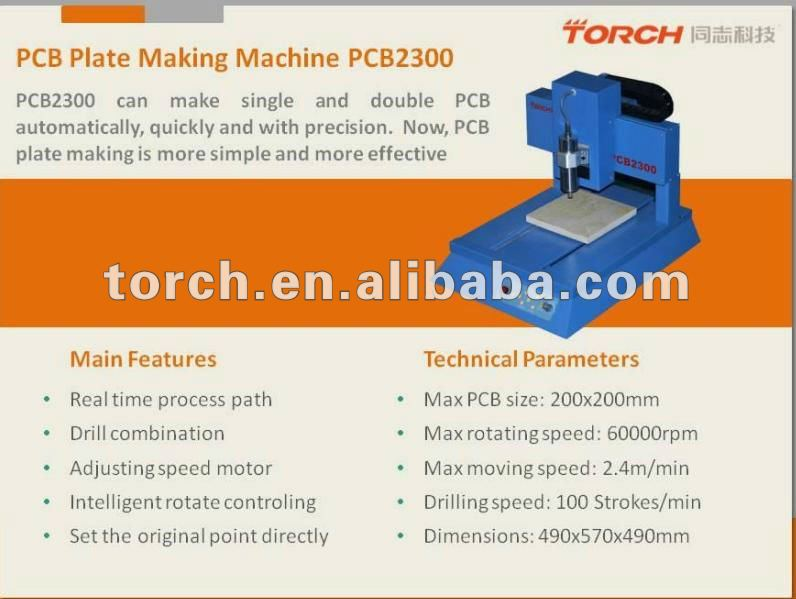 PCB Making Machine / PCB drill and mill machine for Electronic Component PCB2300 (TORCH)