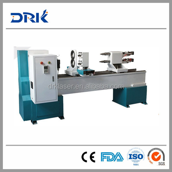 CNC Wood Lathe Machine/CNC Wood Turning Lathe/Baseball Bat Automatic CNC Wood Lathe DRK1516 - Double axis, Double blades