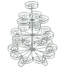Food grade 4-tier Metal wire Cake stand with powder coating Wedding cupcake stand