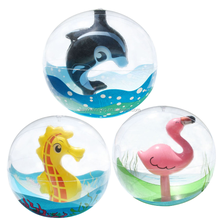 inflatable 3D beach ball, inflatable beach ball with animal inside