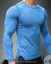 95% cotton 5% spandex mens gym dry fit muscle shark compression t shirt