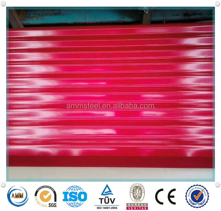 Prepainted corrugated concrete roof tiles sheets
