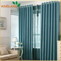 Custom plain dyed curtains bedroom draperies