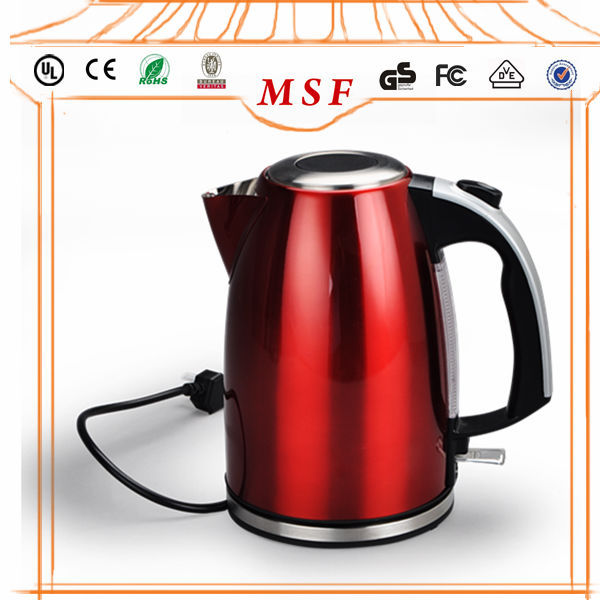 Red coating Stainless Steel Electric Kettles with LED Indicator