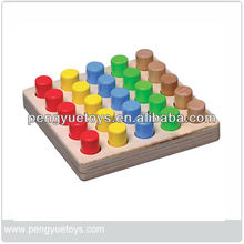 round shape sorter board math educational manipulative toys wooden