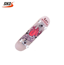 Wholesale cheap good skateboards 4 wheels skateboard double kick concave all kinds of skateboard