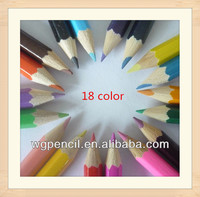 "7"" 18 color wooden color pencils set drawings crafts pencil custom manufacturing office supply cheap wholesale staedtler"