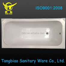 Hot sale freestanding glass bathtub with Jacuzzy function/whirlpool bathtub/acrylic bathtub