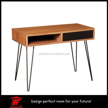 Cheap home office furniture designs wooden study table for Cheap hairpin legs