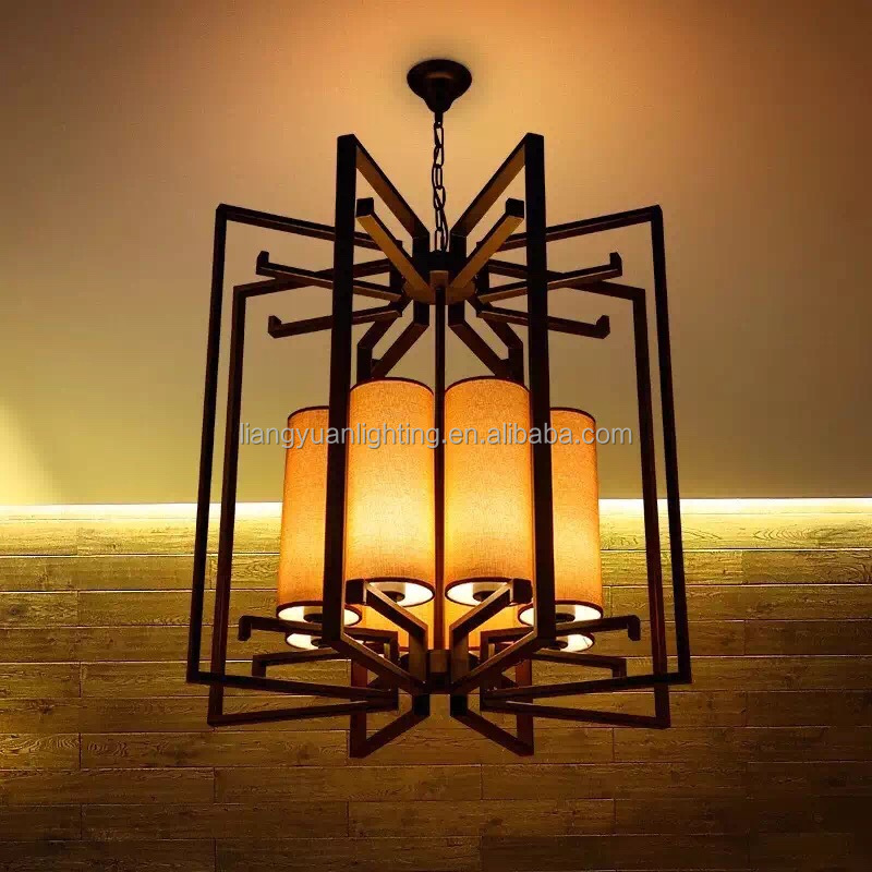 Metal Cage pendant lamp for Hotel Lobby Hallway