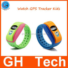 0.66inch gps wrist watch tracker with 2-way communication and SOS button SIM card for kids children