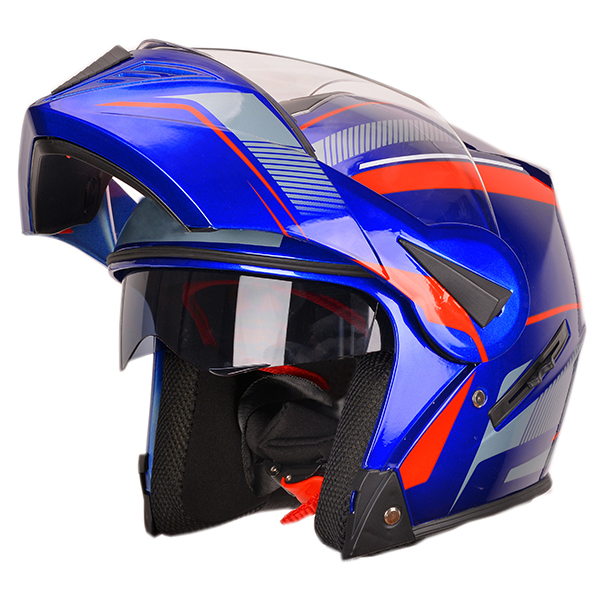 China cascos full face double visors modular flip up motorcycle helmet