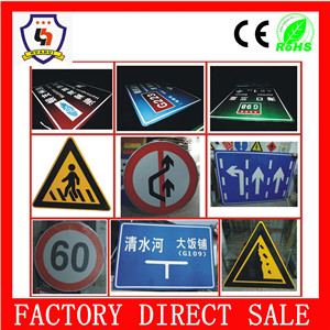 wholesale 30x30cm/40x40m/50*50cm china road traffic signs factory accident warning signs hazard warning signs(warning sign-015)