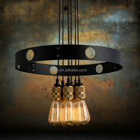 New design industrial copper lamp antique brass light shade two installation ways copper light
