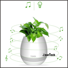 Magic singing plant led bluetooth music flower pot