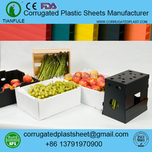 Polypropylene coroplast corflute correx plastic cases for fruit and vegetable