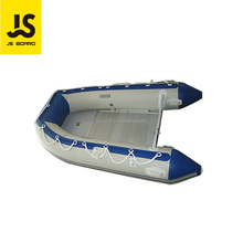 High Quality PVC inflatable Fishing Pontoon Boat plywood floor Rubber Boat