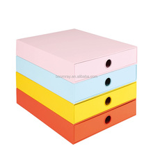Home Storage Organization MDF bright Daily desktop display office supplies box