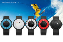 Project enmexing creative eco-friendly waterproof colorful minimal arrow compass silicone sport watch