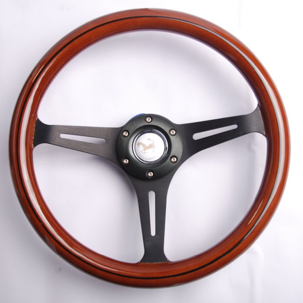 14-inch Phoebe wood steering wheel racing steering wheel 350MM three racing steering wheel Phoebe