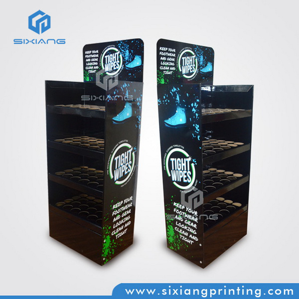 Custom Full Color Printing Retail Store Cardboard POP Paper Display for Supermarket Equipment, Floor Paper Display Stand