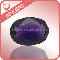 Oval shape decorative purple glass gems